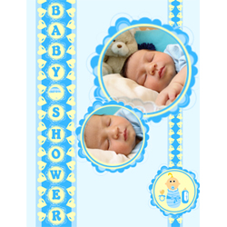 "Scrapbook template ""Baby Shower #09"" in ""Baby Shower"""