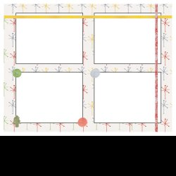 "Scrapbook template ""Home Holidays #1"" in ""Christmas Scrapbooking"""