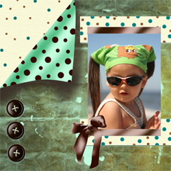 "Scrapbook template ""Shabby chic #08"" in ""Shabby chic"""