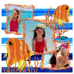 "Scrapbook template ""Tropical Fishes #3"" in ""Summer Vacation"""