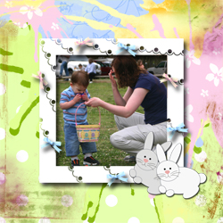 "Scrapbook template ""Easter 2010 #06"" in ""Easter"""
