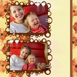 "Scrapbook template ""Family #18"" in ""Family"""