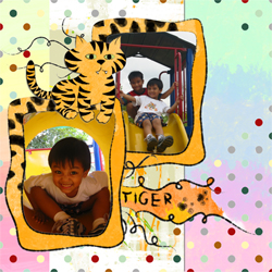 "Scrapbook template ""Funny zoo #20"" in ""Family"""