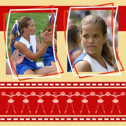 "Scrapbook template ""Cheerleaders #11"" in ""Cheerleaders"""