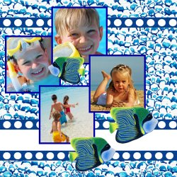 "Scrapbook template ""Sea life #01"" in ""Sea life"""