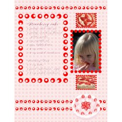 "Scrapbook template ""Food #03"" in ""Food"""