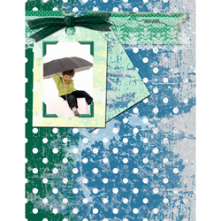 "Scrapbook template ""Rainy Day #17"" in ""Seasonal"""