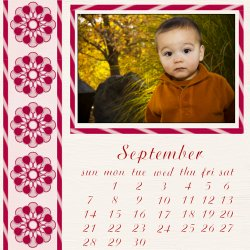"Scrapbook template ""September #18"" in ""Calendars 2008"""