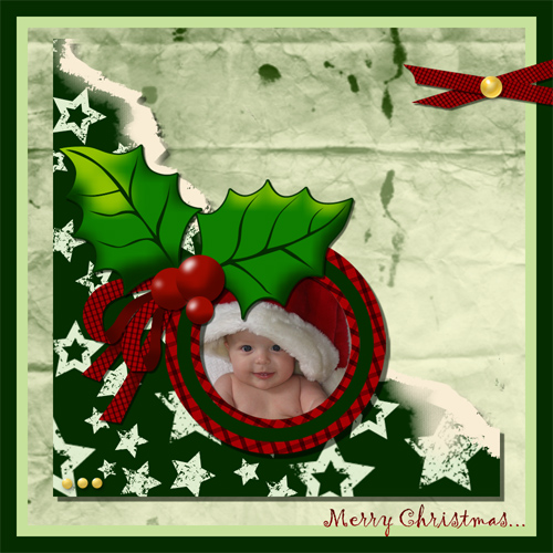 "Scrapbook template ""Christmas 09 #02"" in ""Christmas Scrapbooking"""