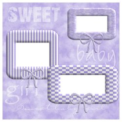 "Scrapbook template ""Sweet Baby Girl #4"" in ""Baby Scrapbooking"""