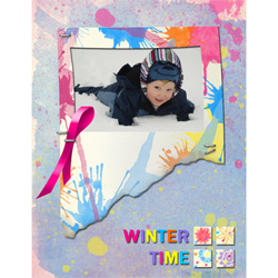 "Scrapbook template ""Winter time #19"" in ""Winter Vacation"""