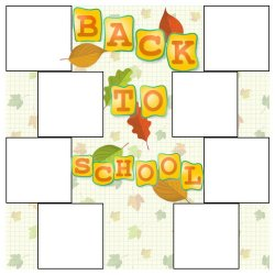 "Scrapbook template ""Amber (backgrounds) #12"" in ""Back to School"""