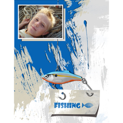 "Scrapbook template ""Fishing #03"" in ""Summer Vacation"""