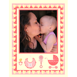 "Scrapbook template ""Baby Shower #05"" in ""Baby Shower"""