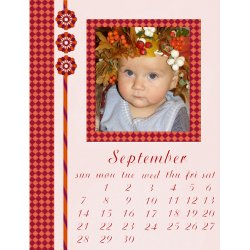 "Scrapbook template ""September #05"" in ""Calendars 2008"""