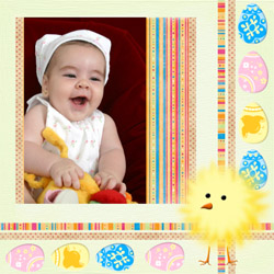 "Scrapbook template ""Easter #24"" in ""Easter"""