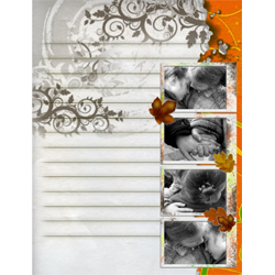 "Scrapbook template ""Fall #11"" in ""Fall"""
