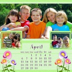 "Scrapbook template ""April #04"" in ""Calendars 2008"""