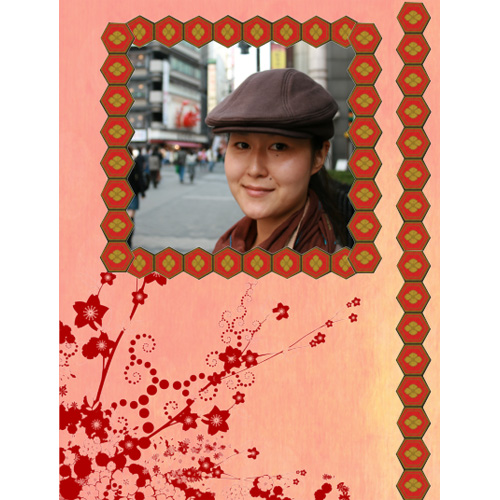 "Scrapbook template ""Japan #07"" in ""Travel"""