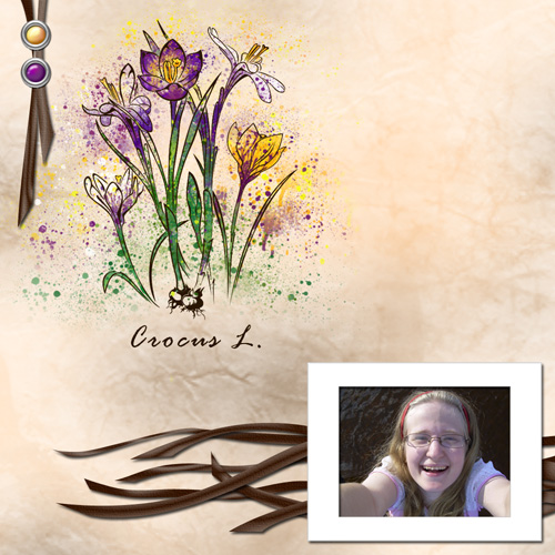 "Scrapbook template ""Spring flowers #02"" in ""Spring"""