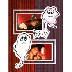 "Scrapbook template ""Painted Halloween #07"" in ""Halloween"""