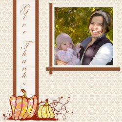"Scrapbook template ""Thanksgiving #18"" in ""Thanksgiving"""