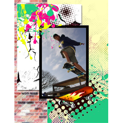 "Scrapbook template ""Skateboard #11"" in ""Sport"""