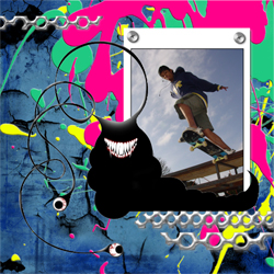 "Scrapbook template ""Skateboard #20"" in ""Sport"""