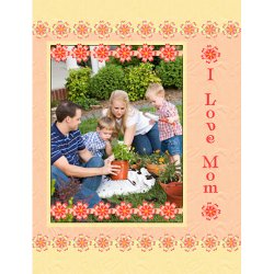 "Scrapbook template ""Mothers Day #19"" in ""Mother`s Day"""