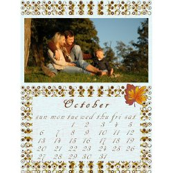 "Scrapbook template ""October # 05"" in ""Calendars 2008"""