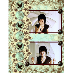 "Scrapbook template ""Shabby chic #19"" in ""Shabby chic"""