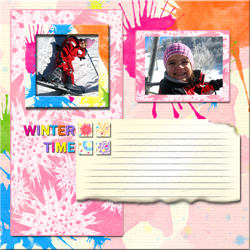 "Scrapbook template ""Winter time #18"" in ""Winter Vacation"""