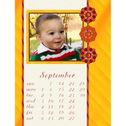 "Scrapbook template ""September #19"" in ""Calendars 2008"""