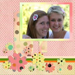 "Scrapbook template ""Friends #21"" in ""Friends Scrapbooking"""