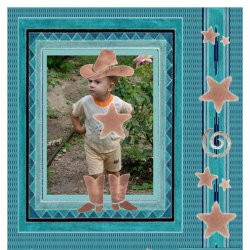 "Scrapbook template ""Rodeo #2"" in ""Misc"""