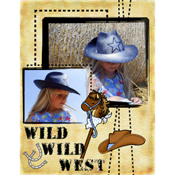"Scrapbook template ""Wild West #01"" in ""Travel"""