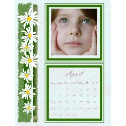 "Scrapbook template ""April #09"" in ""Calendars 2008"""