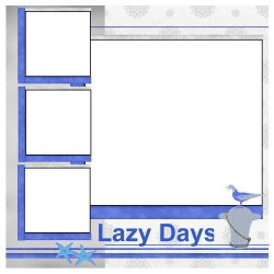 "Scrapbook template ""LazyDays Addon #1"" in ""Summer Vacation"""