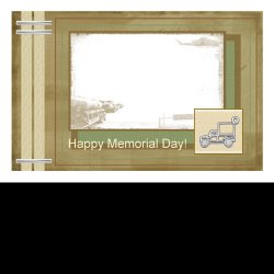 "Scrapbook template ""Memorial Day Card #1"" in ""Military"""