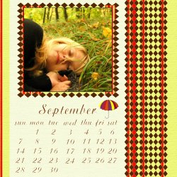 "Scrapbook template ""September #12"" in ""Calendars 2008"""