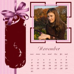 "Scrapbook template ""November #20"" in ""Calendars 2008"""