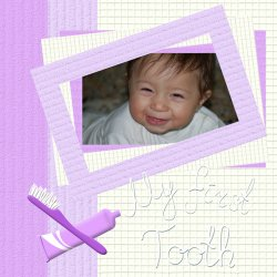 "Scrapbook template ""Baby firsts #08"" in ""Firsts"""