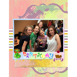 "Scrapbook template ""Birthday party #11"" in ""Birthday Scrapbooking"""