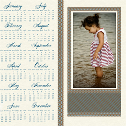 "Scrapbook template ""Calendar2009 #12"" in ""Calendars 2009"""