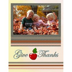 "Scrapbook template ""Thanksgiving #03"" in ""Thanksgiving"""