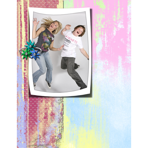 "Scrapbook template ""Teenagers #01"" in ""Teenagers"""