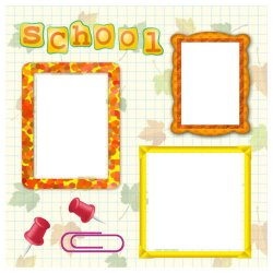 "Scrapbook template ""Back to School #4"" in ""Back to School"""
