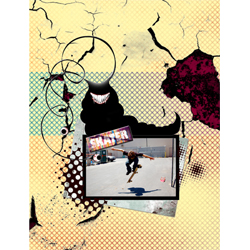 "Scrapbook template ""Skateboard #07"" in ""Sport"""