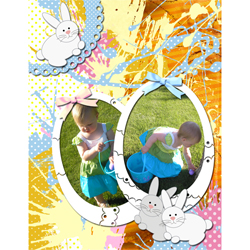 "Scrapbook template ""Easter 2010 #05"" in ""Easter"""