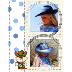 "Scrapbook template ""Wild West #17"" in ""Travel"""